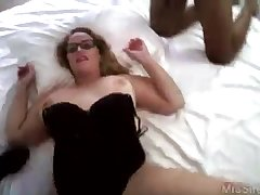 Curvy wife in glasses double bbc hardcore