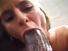 Giant black cock eating wife w eyes rolling back