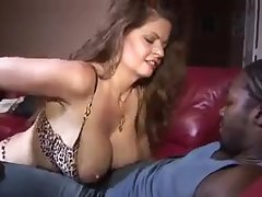 Amazing white cougar for big black dick