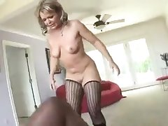 Mature Milf in stockings gets bbc destruction